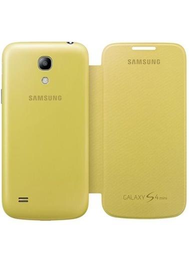 Samsung Samsung I9190 Galaxy S4 Mini Orjinal Flip Cover Kılıf Yeşil -Sarı (Outlet) Renkli